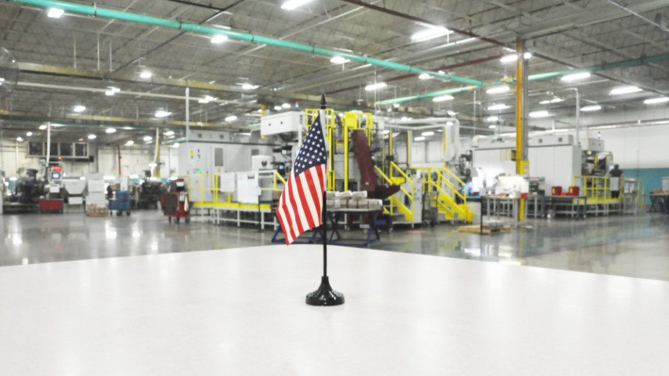 US FLAG at high tech factory